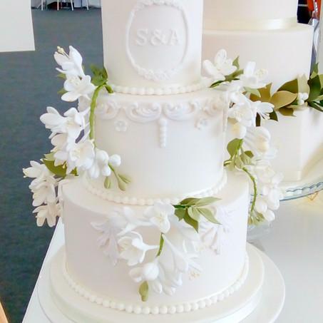 Fressia Cake with Monogram