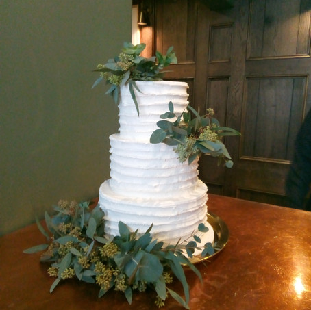 3-tier rustic buttercream cake