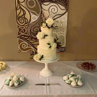 3-tier rustic buttercream cake