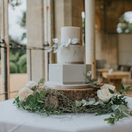 Marble Geometric Cake