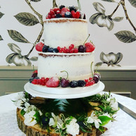 2-tier semi-naked cake