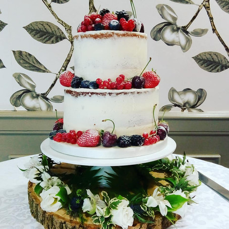 2-tier semi-naked cake