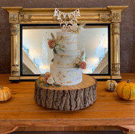 3-tier semi-naked cake