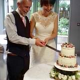 Semi Naked Wedding Cake with Fruit