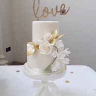 Small two-tier wedding cake