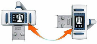 GUI touch screen rotational U-arm