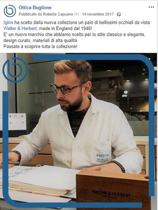 Post FB nuovo brand Ottica Buglione