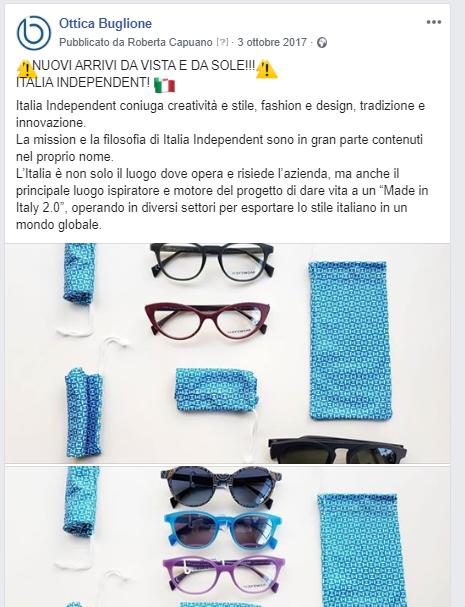 Post FB Ottica Buglione