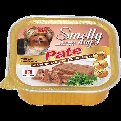 СмоллиДог Pate телятина (паштет в ассортименте) 100г (ламистр)