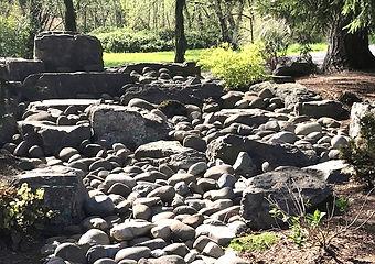 Rock garden dry creek