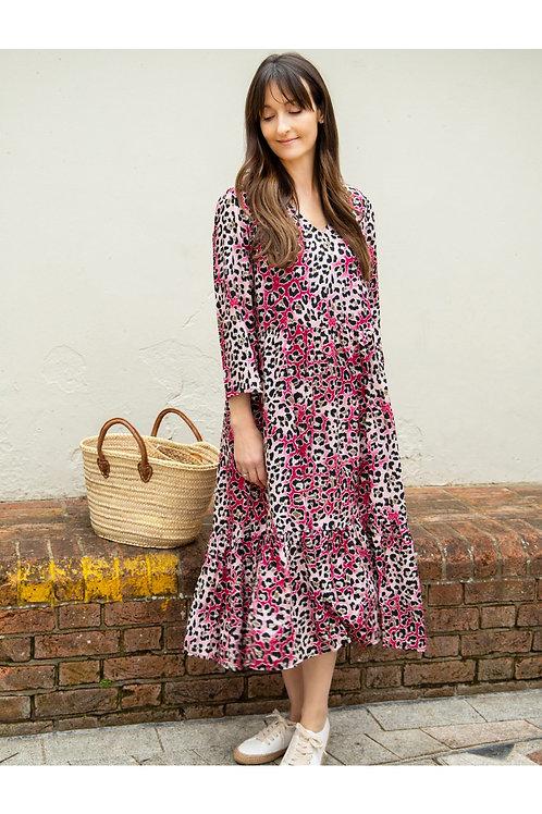 AMAZING WOMAN PENNIE CLARET DRESS