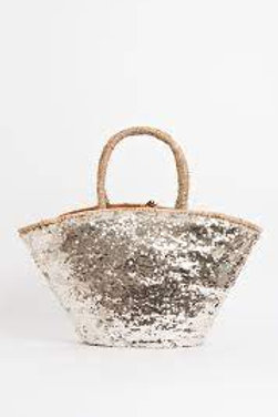 LARGE GOLD SEQUIN BAG