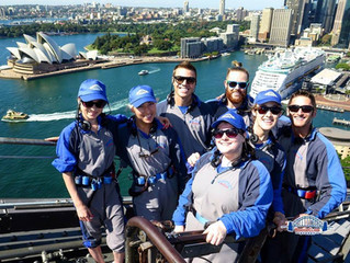 Climbing the Bridge in Sydney!