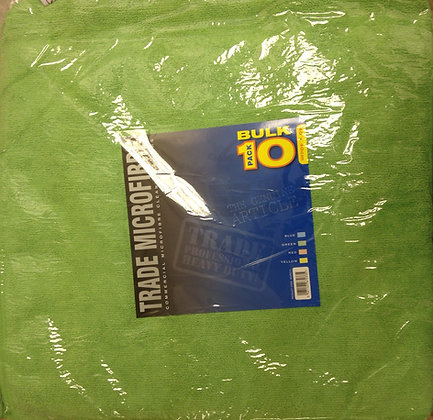 Microfibre Cloth, High Quality 10 Pack (Green)