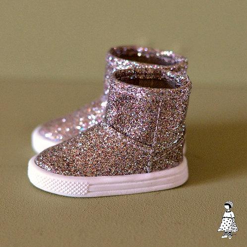 Boots pailletées semelles baskets déboxées fashion friends Stella