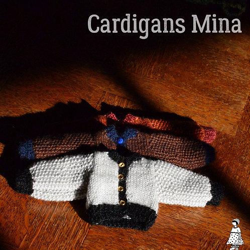 Cardigan Mina Pour petites poupées
