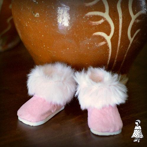 Boots roses déboxées Little Götz/ Va aux Marie-Françoise