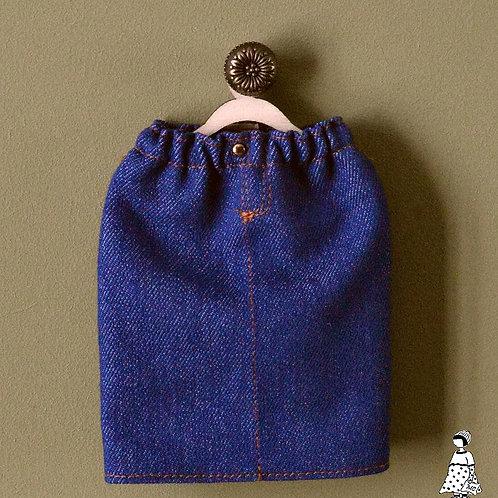 Jupe droite en jean Pour petites poupées