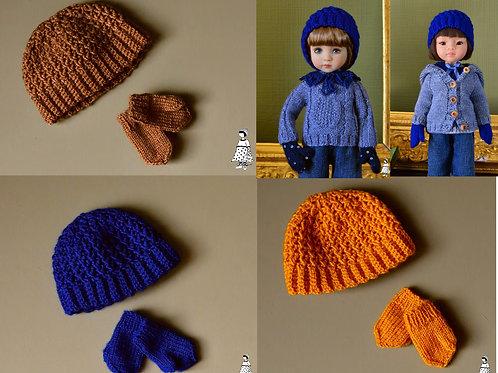 Frimas/ Ensemble bonnet et moufle