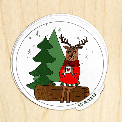 Deer Hot Cocoa - 10 Stickers