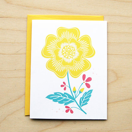 Yellow Floral -6 Cards