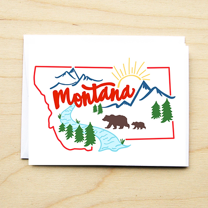 Montana Scene - 6 Cards