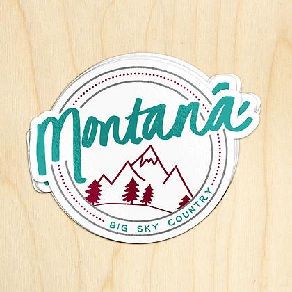 Round Montana Sticker - 10 Stickers