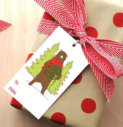 Bear Gift Tags - 4 Sets