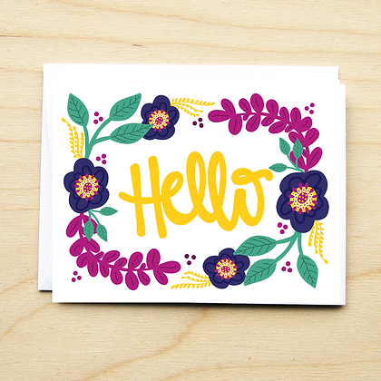 Hello Floral - 6 Cards