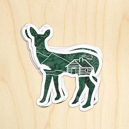 Deer Cabin - 10 Stickers