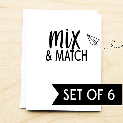 Mix & Match Set of 6