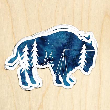 Buffalo Camp Sticker