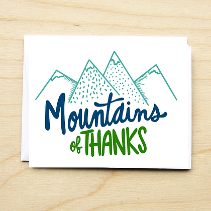 Mountains of Thanks - 6 Cards