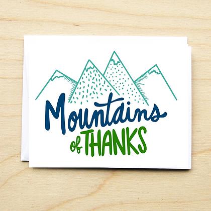 Mountains of Thanks