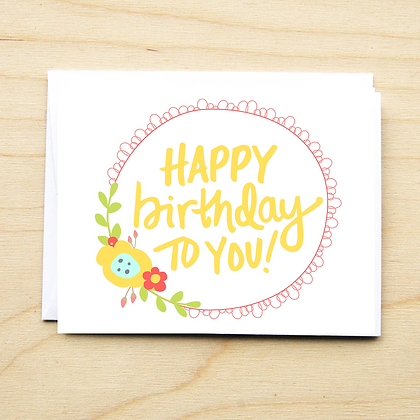 Floral Birthday - 6 Cards