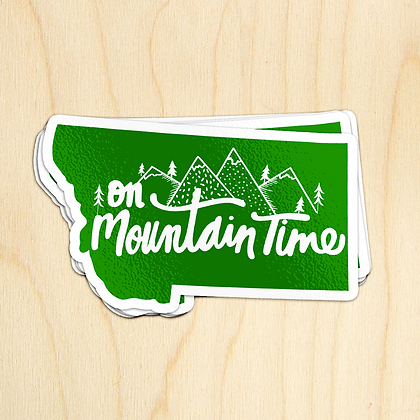 Mountain Time MT Sticker - 10 Stickers