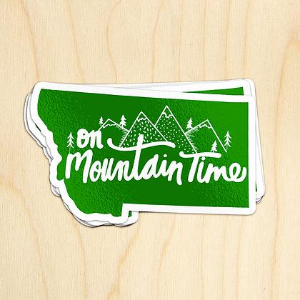 Mountain Time MT Sticker