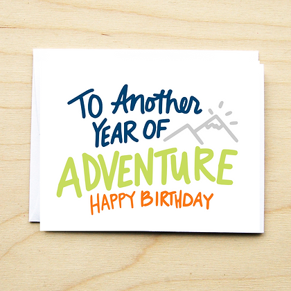 Adventure Birthday - 6 Cards