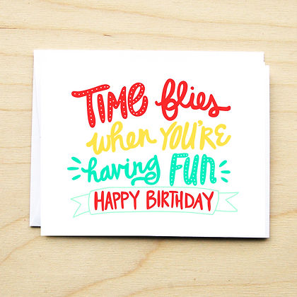 Time Flies Birthday - 6 Cards