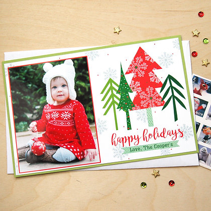 Festive Trees - Photo Card