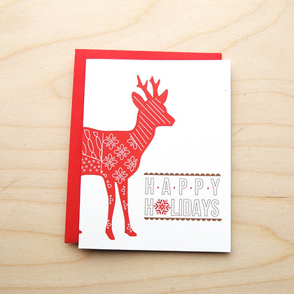 Happy HolidayDeer Card