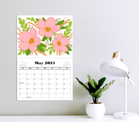 2021 Floral Appointment Calendar