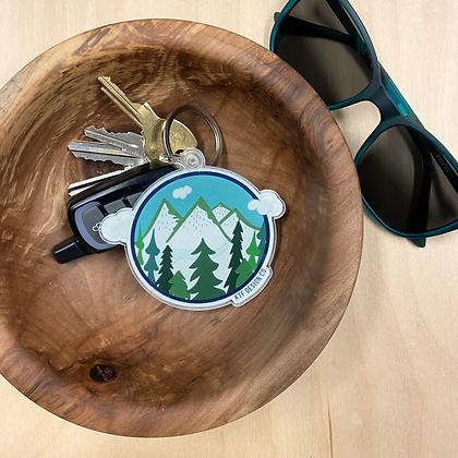 Round Mountain Keychain