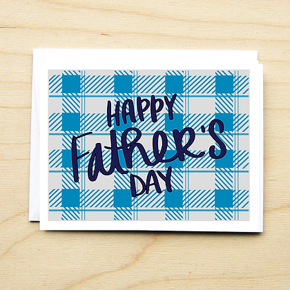 Plaid Father's Day - 6 Cards