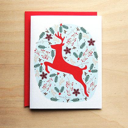 Deer Holiday Card