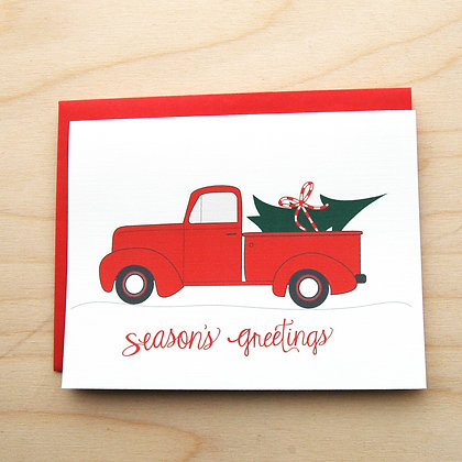 Truck Holiday Card