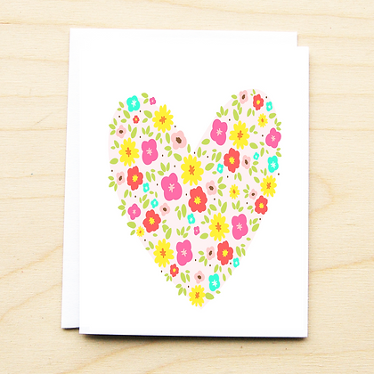 Floral Heart - 6 Cards