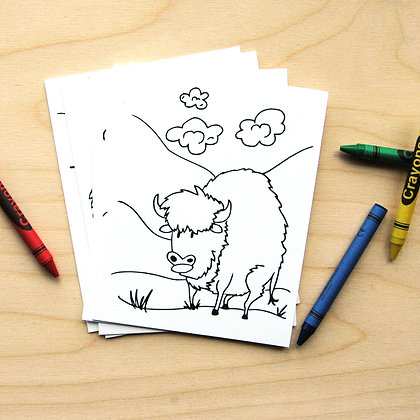Buckaroo Coloring Cards