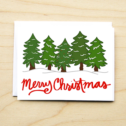Merry Trees - 6 Cards