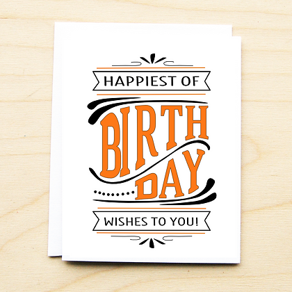 Happiest Birthday Wishes - 6 Cards
